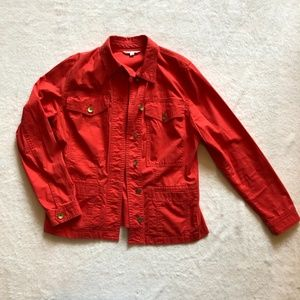 CAbi Red ruffle jacket
